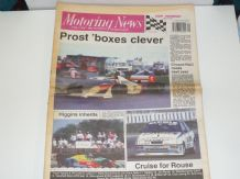 MOTORING NEWS 1989 July 19 British GP, BTCC, F3, Meadowlands CART, Jim Clark Rally